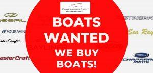 We buy boats!
